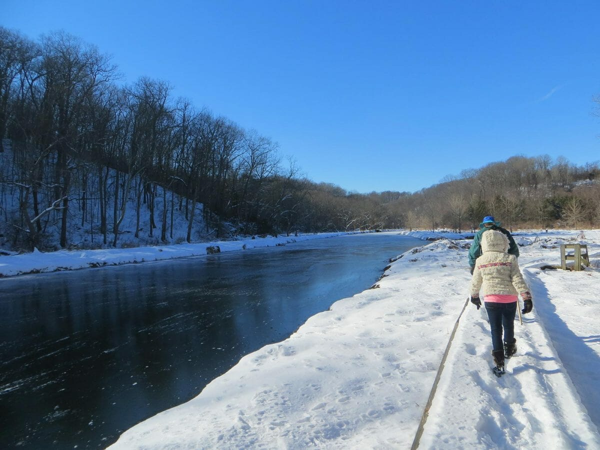 hiking winter eden mill harford county maryland dettner judy